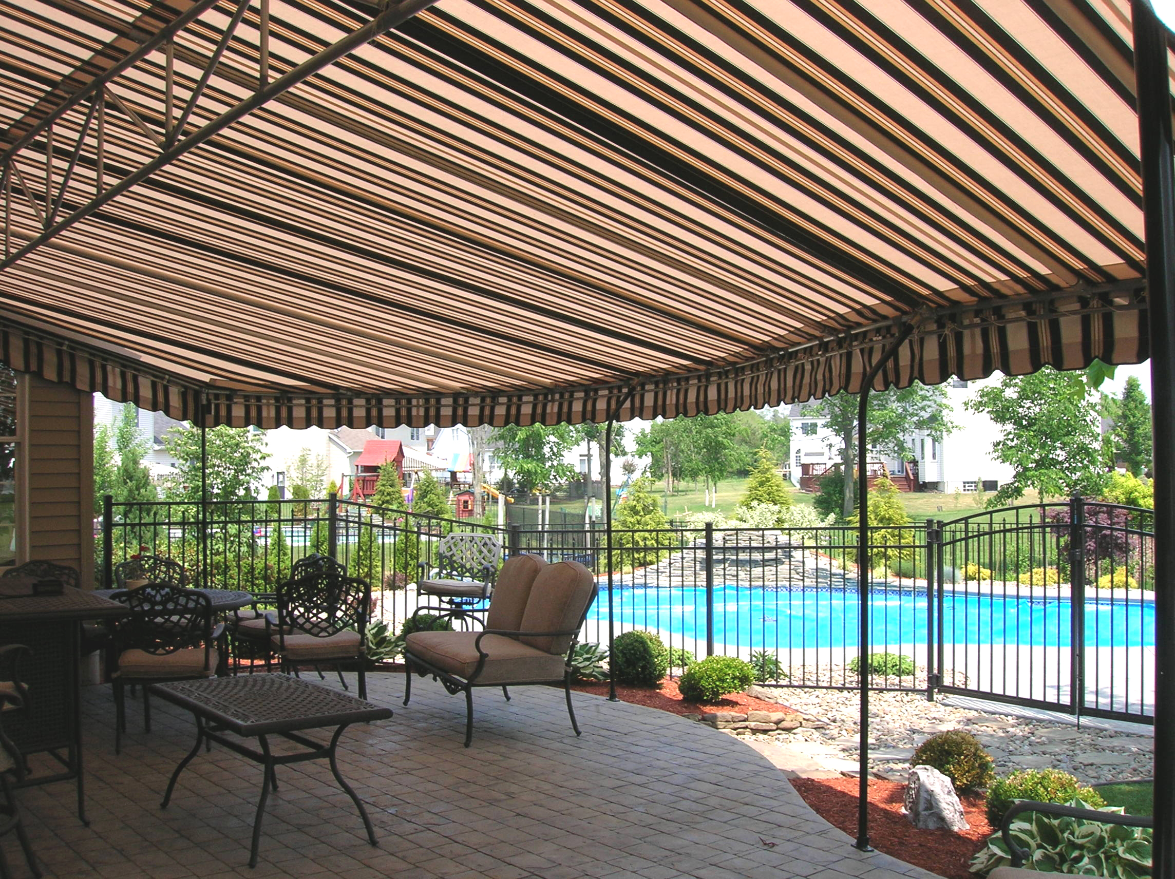 Awning By The Pool