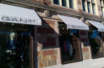 New Awnings For Gant in Downtown New Haven
