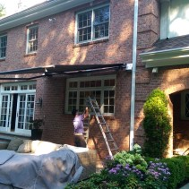 This Week Dean installed a Retractable Awning In Armonk NY!