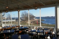 Patio Canopy installed at Pearl at Longshore located In Westport CT – inside view