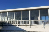 Patio Canopy installed at Pearl at Longshore located In Westport CT – outside view