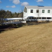 Mountainside Treatment center in Canaan, CT.  gets 300 feet of sidewalk canopy!