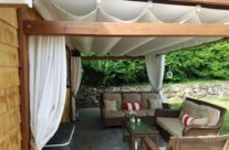 Corradi Pergotenda PT45 installed in their backyard!
