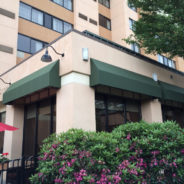 The Courtyard Marriott in Shelton CT gets their awnings recovered!