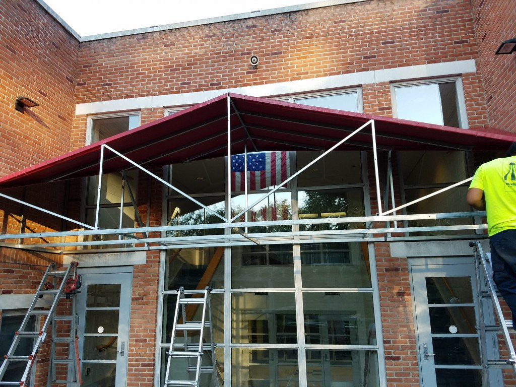 Mary R Tisko Middle School Gets A Gabled Canopy Installed