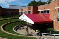 Mary R. Tisko Middle School Gets An Extra Large Entrance Awning