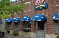 Ben and Jerrys Custom Entrance Awning With Painted Graphics