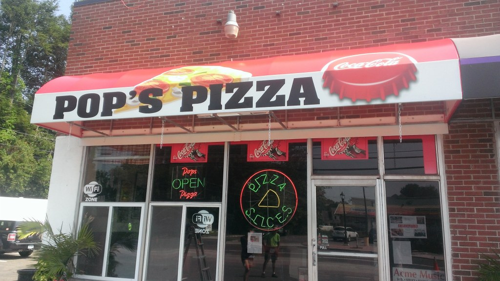 Pop S Pizza Photo Quality Awning Graphics New Haven Awning