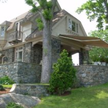 Stone Porch Retractable Awning