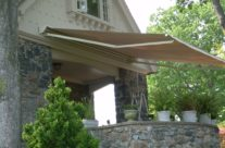 Stone Porch Retractable Awning Sideview
