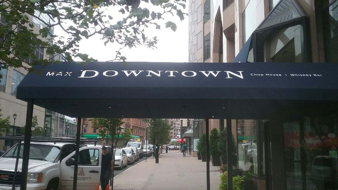 Need a custom entrance canopy? Contact New Haven Awning Today! & Max Downtown Gets a Beautiful Custom Entrance Canopy. | New Haven ...