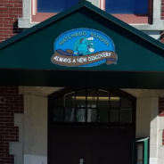 Natchaug Elementary School Custom Graphics on Entrance Awning