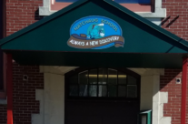 Natchaug Elementary School Entry Awning With Painted Graphics