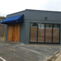 Squash Haven's New Building Gets 2 Custom Shed Awnings!
