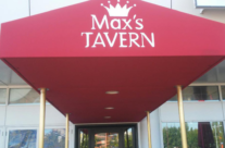 Entrance Awning For Max's Tavern With Recessed Lighting