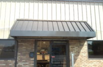 Metal Rear Entrance Awning in Manchester, CT