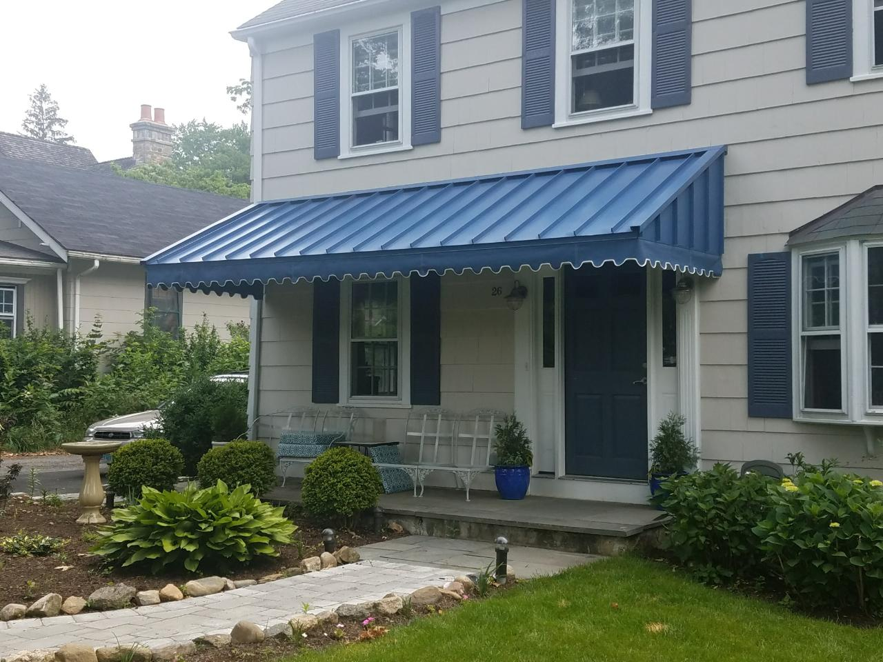 awnings awning haven standing residential metal new canopies seam canopy