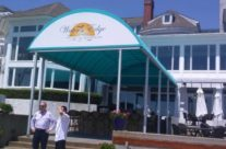 New Entrance Awning For Waters Edge Resort and Spa