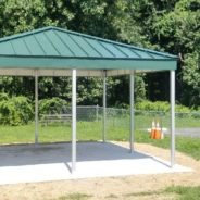 Booth Hill School Gets Two Standing Seam Patio Covers For Their Playground!