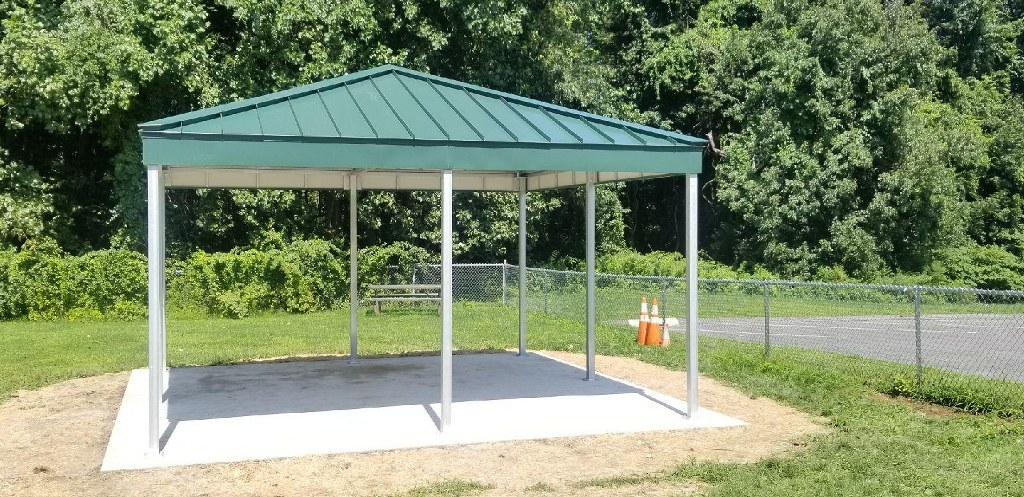 Booth Hill School Gets Two Standing Seam Patio Covers For