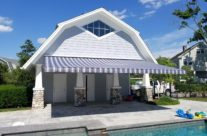 Poolside Retractable Awning In Greenwich, CT.