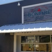 Bonfire Grill Gets a New Standing Seam Awning.