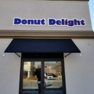 Donut Delight  Gets New Open Traditional Awnings.