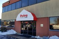 Obscure Shaped Awning For Petra Construction Corp