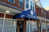 Levy Dental Group Custom Entrance Awning With Heat Sealed Graphics