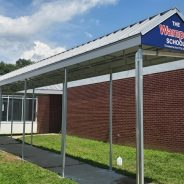 Check Out This 65 Foot Standing Seam Gabled Canopy!